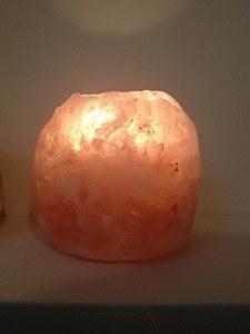 zoutkristal theelicht